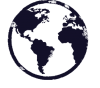 globe icon navy